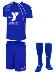 WYCKOFF YMCA MANDATORY  KIT YOUTH -- ROYAL BLUE WHITE