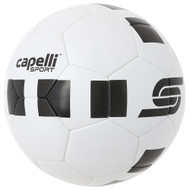CS 4 CUBE THERMO BOUNDED SOCCER BALL  --  WHITE BLACK