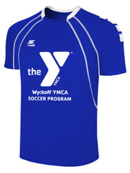 WYCKOFF YMCA  RAVEN SHORT SLEEVE JERSEY  -- ROYAL BLUE WHITE