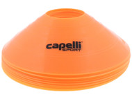 CAPELLI SPORT   10 PC TRAINING CONES WITH CARRY STRAP -- ORANGE BLACK