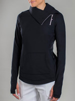 JoFit Ladies & Plus Size Tennis Jumper Jackets - Fiji (Black)
