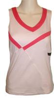 CLEARANCE Bolle Ladies Tennis V-Neck Racerback Tops – Cherry Blossom (Blossom & White)
