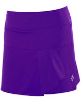 CLEARANCE JoFit Ladies Side Drape Tennis Skorts – Tahiti (Grape)