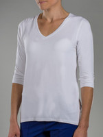 JoFit Ladies & Plus Size Voyager Half Sleeve Tee – White
