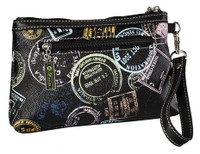 Sydney Love Ladies Cosmetic Wristlet Purses - Bon Voyage Passport Print