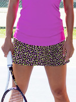 CLEARANCE JoFit Ladies & Plus Size Dry Jersey Swing Tennis Skorts - Sea Breeze Funfetti