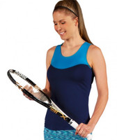 SALE JoFit Ladies Jo Dry Jersey Pippa Tennis Tank Shirts - Hermosa Beach (Navy Blue)