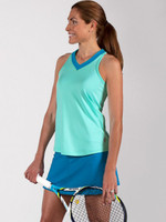 JoFit Ladies Jo Dry Jersey Swing Tennis Skorts - Hermosa Beach (Liquid Blue)