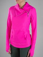 JoFit Ladies & Plus Size Fitness Jumper Jackets - Mojito (Fluorescent Pink)