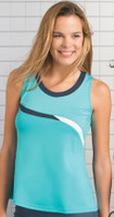 CLEARANCE Bolle Ladies Flared Tennis Tank Tops – Bayside (Aqua)