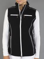JoFit Ladies & Plus Size Piped Performance Fitness Vest - Black
