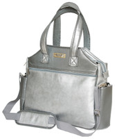 Glove It Ladies Signature Tennis Tote Bags - Silver Suede