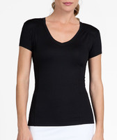 Tail Ladies Lacasi Short Sleeve Tennis Tops - ESSENTIALS (Black)