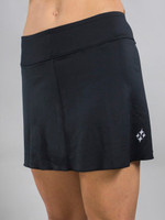 JoFit Ladies & Plus Size Jacquard Swing Tennis Skorts - Black