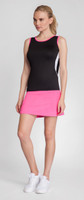 Tail Ladies & Plus Size Tennis Outfits (Tank & Skort) - Shocking Siren (Black/Siren Pink)