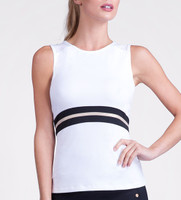 Kadence Sleeveless White Tennis Tank Top