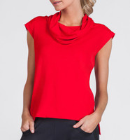 Jaya Red Sleeveless Tennis Top