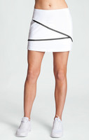 Vienna White Pull-on Tennis Skort