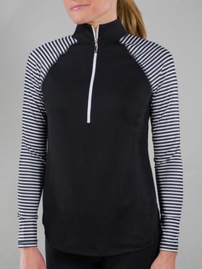 Brushed Long Sleeve Mock Fitness Shirt