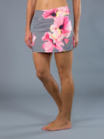 Stripe Floral Tennis Skort