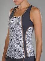 SALE JoFit Ladies Tech Tennis Tank Tops - Sonoma (Crocodile Print)