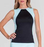 Tail Ladies & Plus Size Elicia Tennis Tank Tops - Sea Breeze (Black w/ Sea Foam)