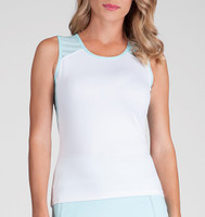 Tail Ladies & Plus Size Analee Tennis Tank Tops - Sea Breeze (White)