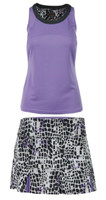 Bolle Ladies Gianna Tennis Outfits (Tank Top & Skirt) – Lilac/Graphite