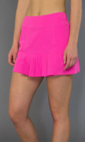 JoFit Ladies & Plus Size Dash Pleated Tennis Skorts (Short) - Napa (Fluorescent Pink)