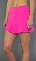 SALE JoFit Ladies & Plus Size Dash Pleated Tennis Skorts (Short) - Napa (Fluorescent Pink)