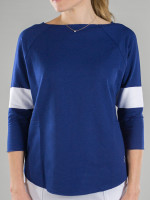 JoFit Ladies & Plus Size Passport Pullover - Napa (Blue Depth)
