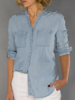 JoFit Ladies & Plus Size Perfect Chambray Shirts - Napa (Chambray)