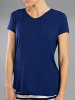 JoFit Ladies & Plus Size V-Neck Tee Shirts - Napa (Blue Depth)