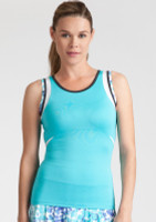 Tail Ladies & Plus Size Emily Tennis Tank Tops - Glistening Tide (Curacao)