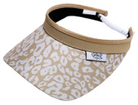 Glove It Ladies Tennis Visors - Uptown Cheetah