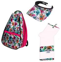 Glove It Ladies Garden Party Tennis Combo (Backpack/Towel/Visor)