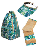 Glove It Ladies Jungle Fever Tennis Combo (Backpack/Towel/Visor)