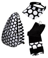 Glove It Ladies Mod Dot Tennis Combo (Backpack/Towel/Visor)