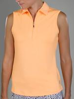 JoFit Ladies & Plus Size Performance Sleeveless Tennis Shirts - Sonoma (Tangerine)
