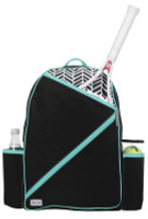 Ame & Lulu Ladies Brooks Tennis Backpacks - Black Shutters