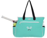 Ame & Lulu Ladies Kensington Tennis Court Bags - Aqua/Black