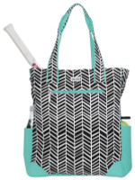 Ame & Lulu Ladies Emerson Tennis Tote Bags - Black Shutters