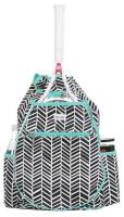 Ame & Lulu Ladies Kingsley Tennis Backpacks - Black Shutters