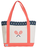 Ame & Lulu Ladies Tennis Lovers Tote Bags - Pineapple