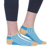 Ame & Lulu Ladies Meet You Match Socks - Ticking Stripe