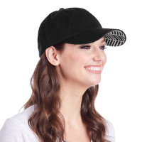 Ame & Lulu Ladies Heads Up Tennis Hats - Black Shutters