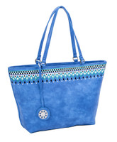 Sydney Love Ladies Embroidered Medium Tote Bags - Cobalt
