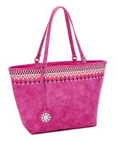 Sydney Love Ladies Embroidered Medium Tote Bags - Fuchsia