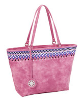Sydney Love Ladies Embroidered Medium Tote Bags - Rose