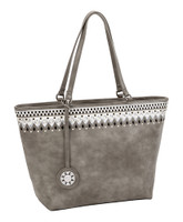 Sydney Love Ladies Embroidered Medium Tote Bags - Cement